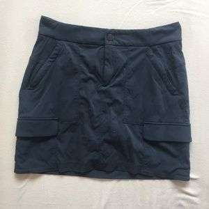 Charcoal Gray Six Pocket Skort